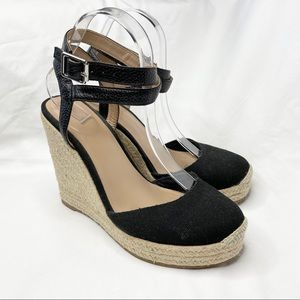 Witchery Black Espadrille Wedges